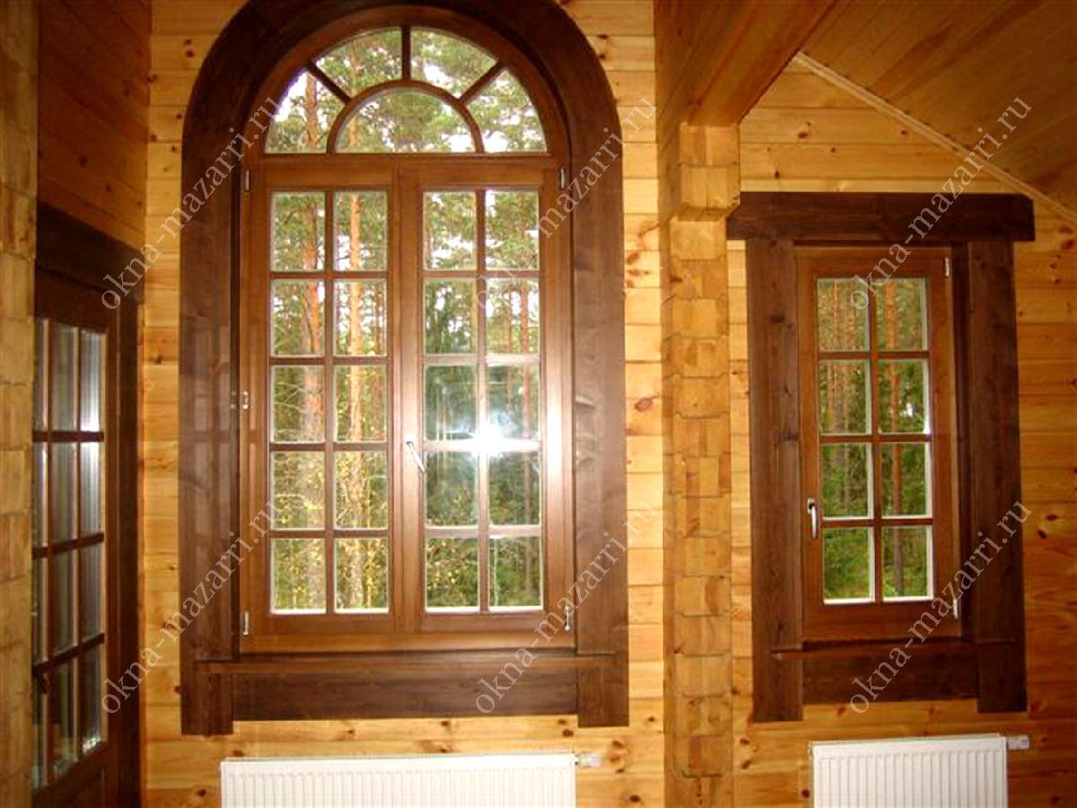 Окна деревянные со стеклопакетом фото